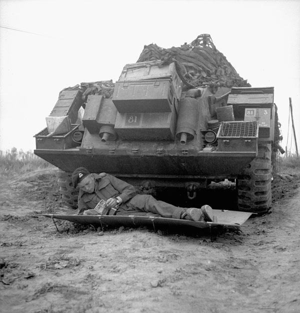 Photo of Relaxing Under a Sherman Tank