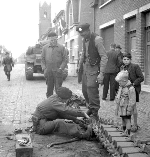 Photo of Repairing a Sherman Track