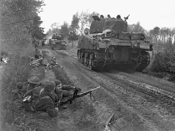 Photo of Sherman Tanks on the Move