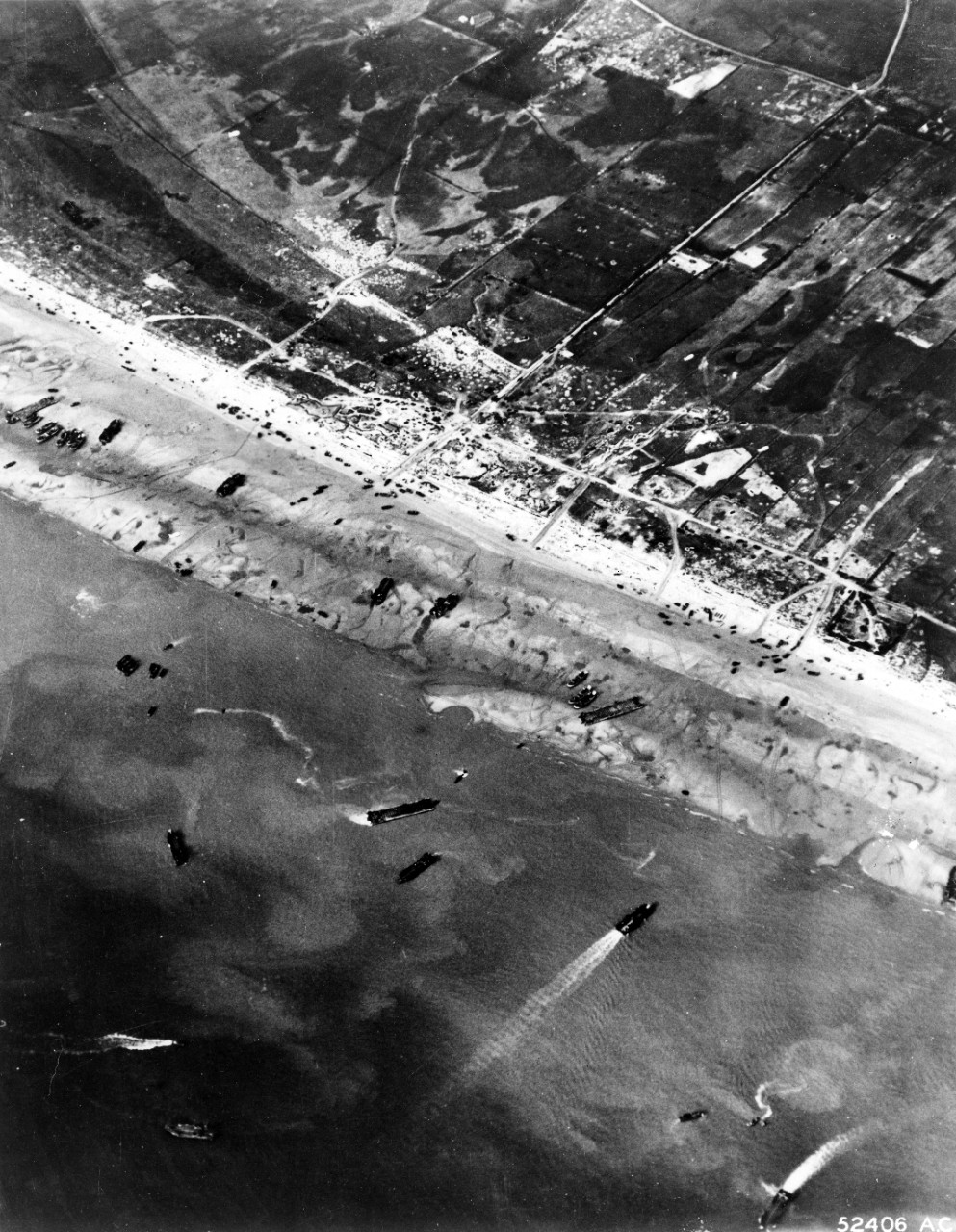 Photo of D-Day arial view