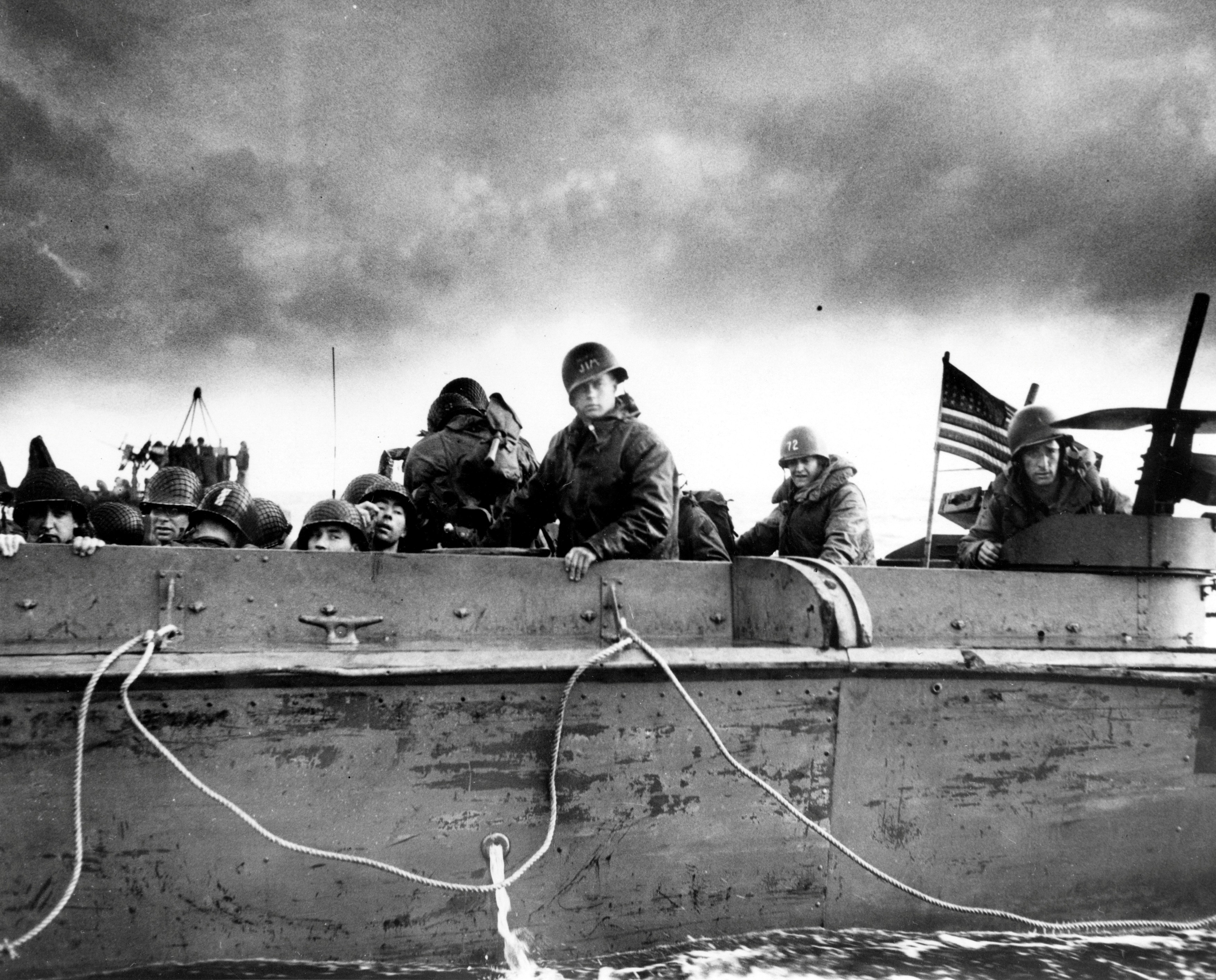 Photo of LCVP approaching normandy