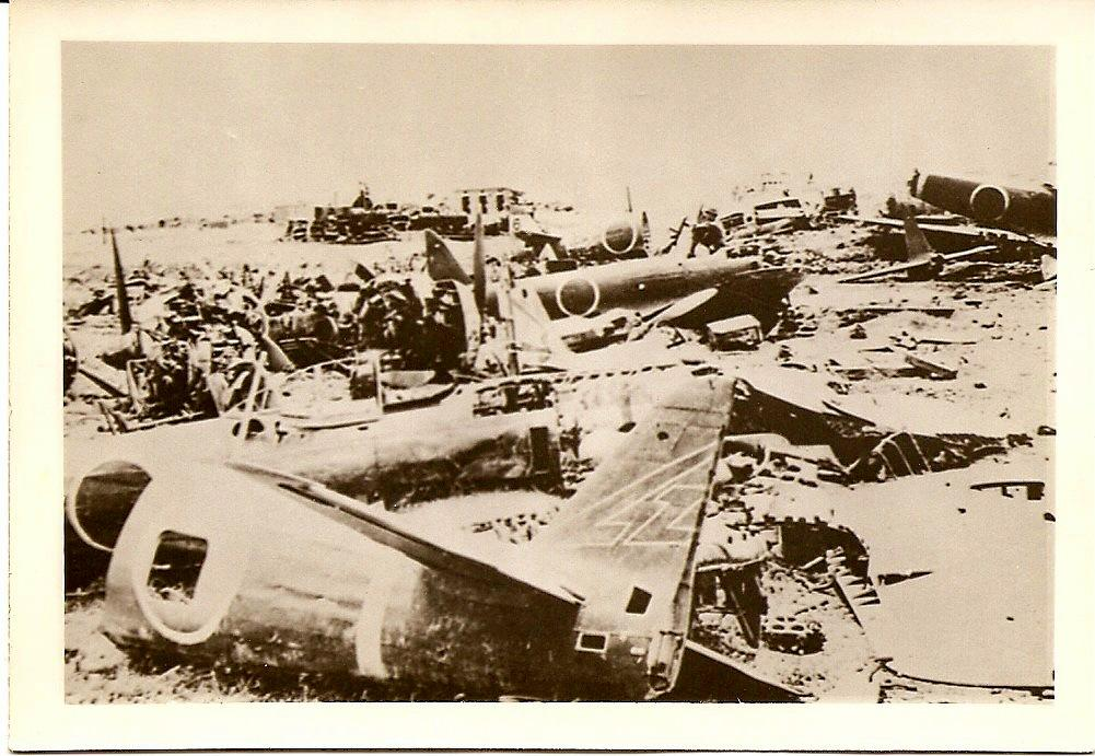 Photo of Wrecked Japanese planes