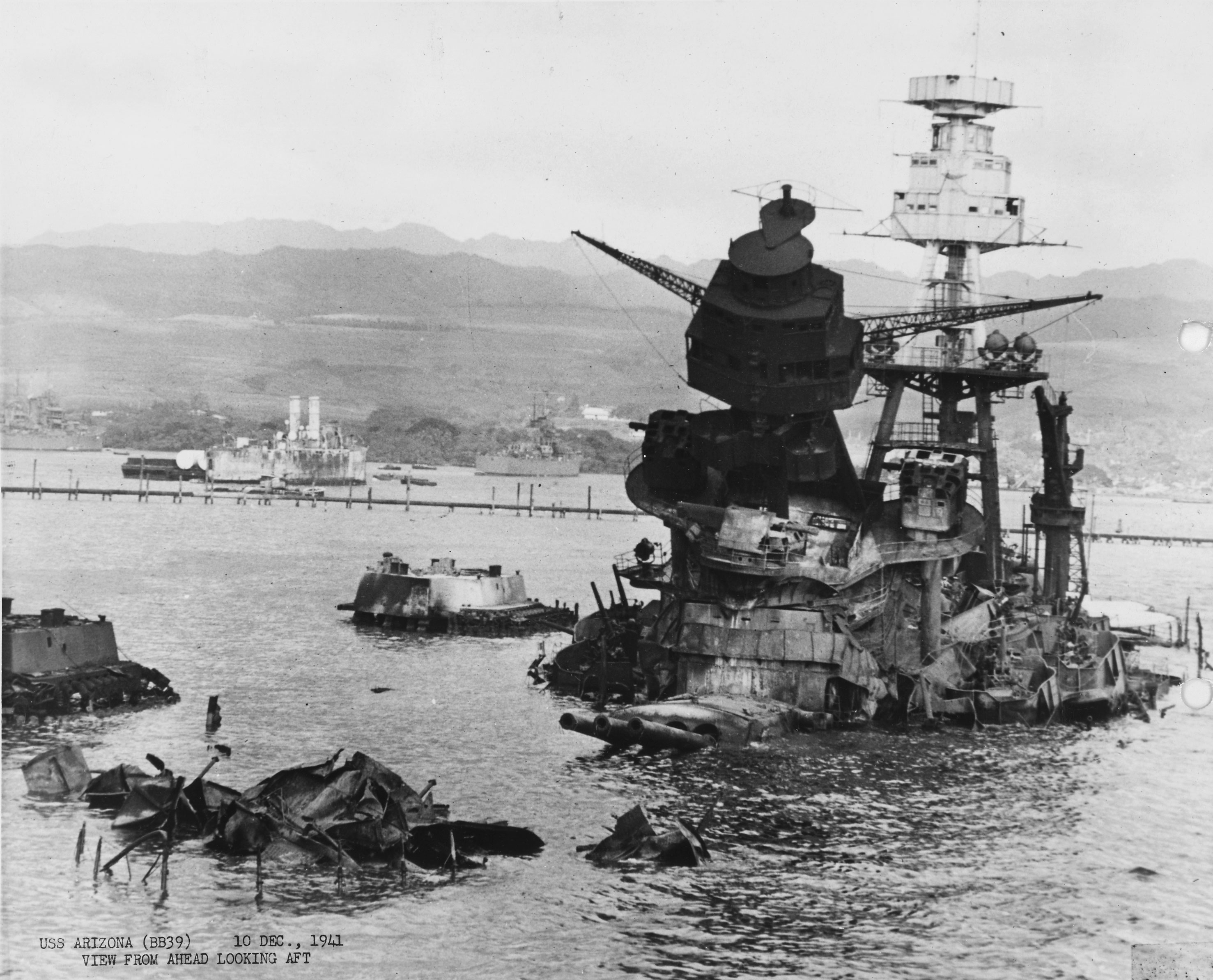 Photo of Aftermath of USS Arizona