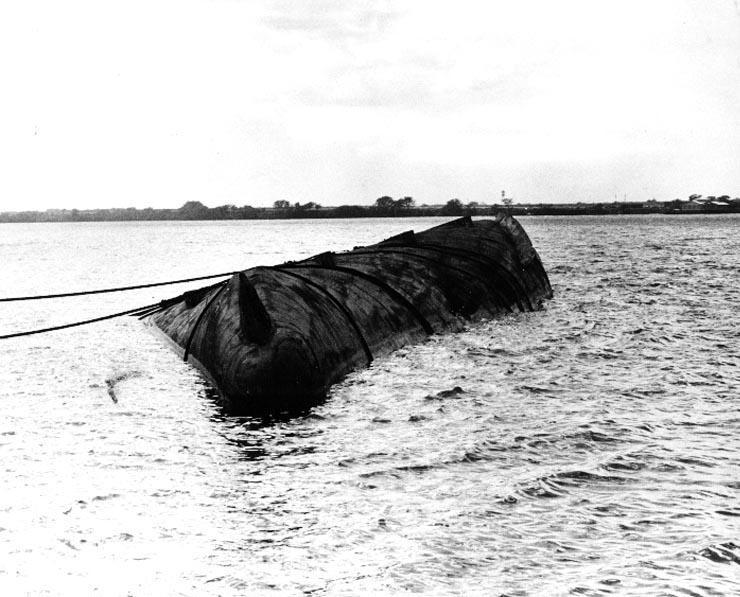 Photo of Capsized USS Utah