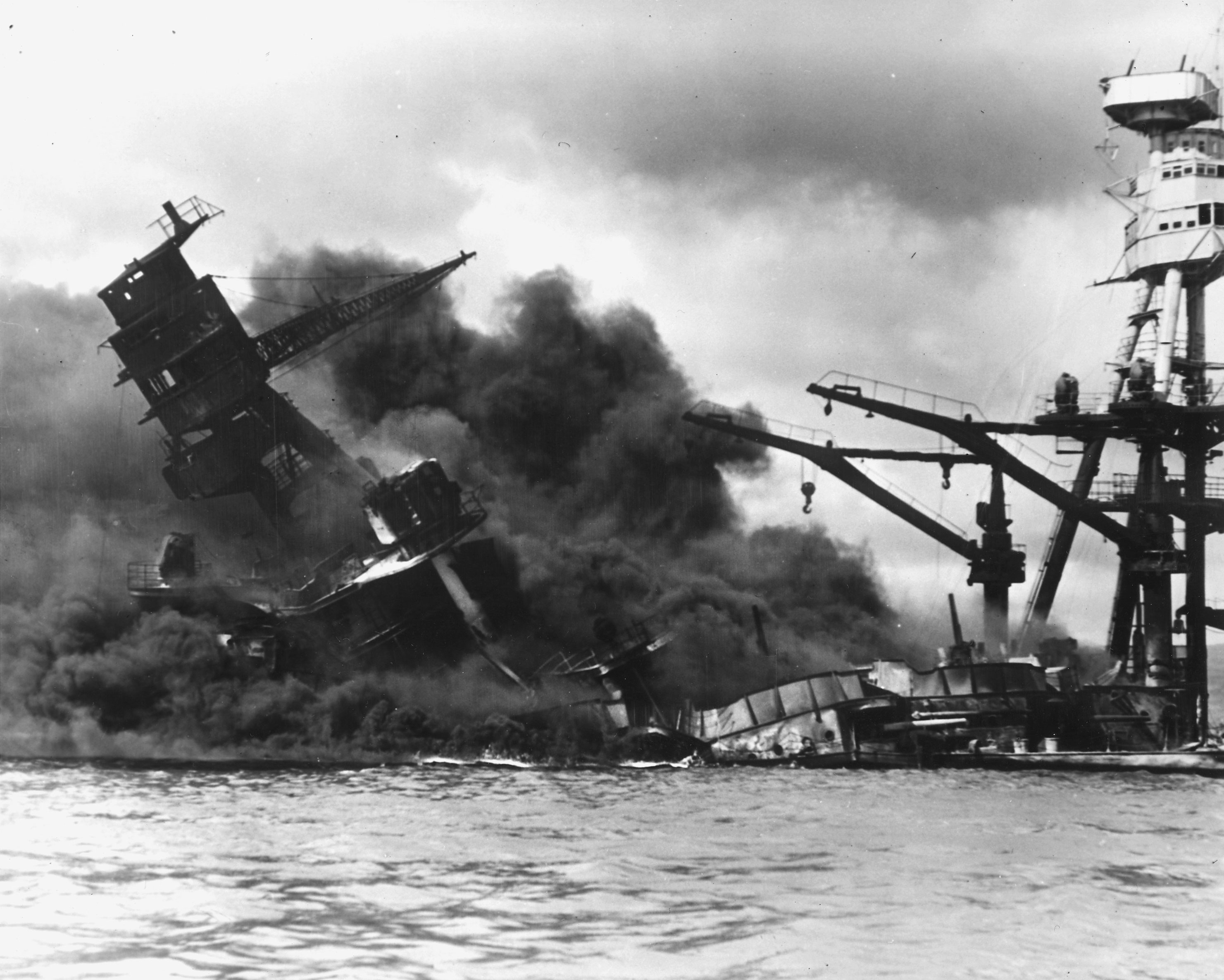 Photo of Sinking USS Arizona