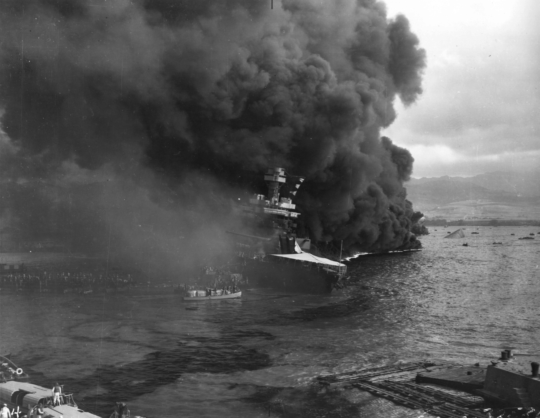 Photo of Sinking USS California