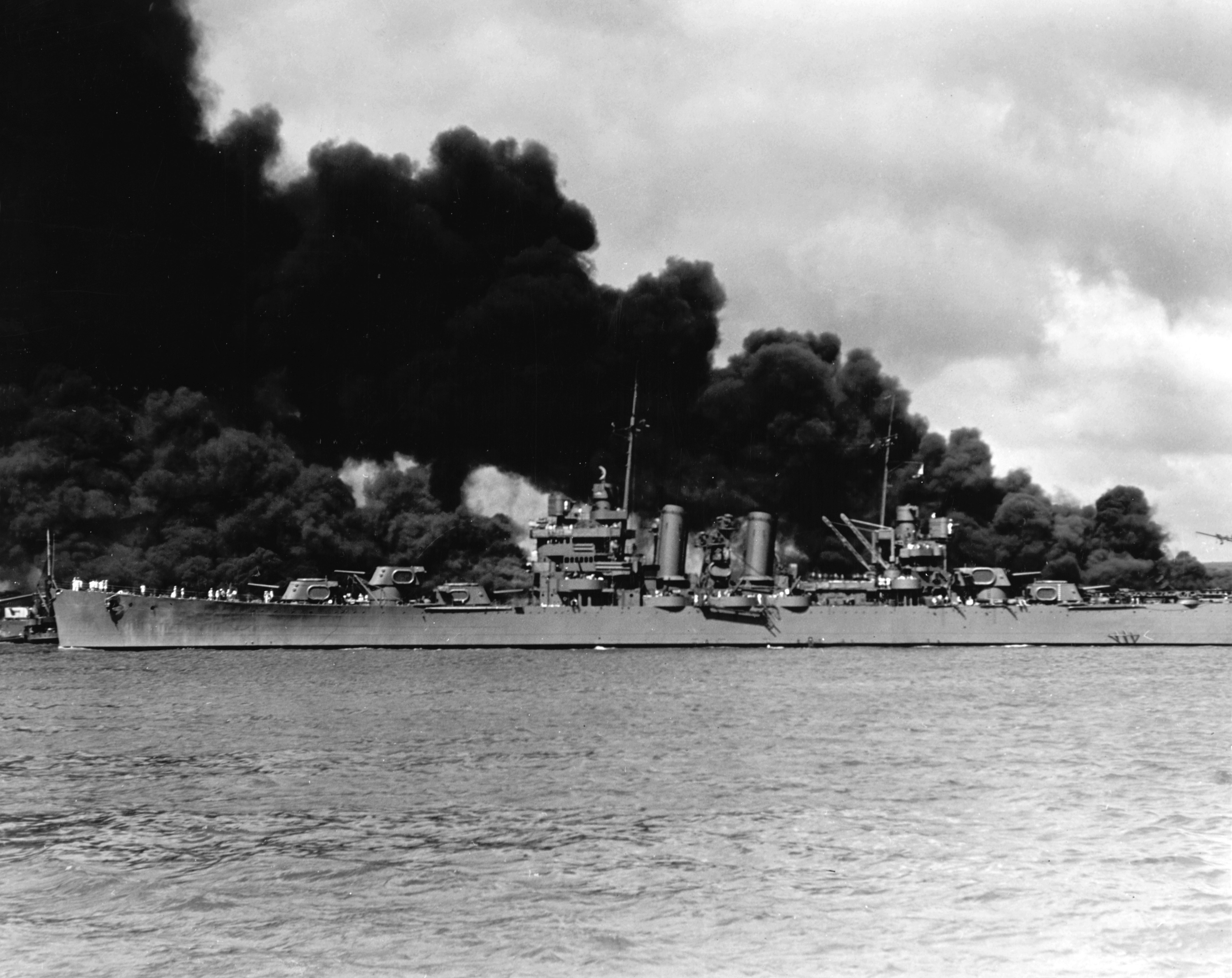Photo of Steaming past battleship row