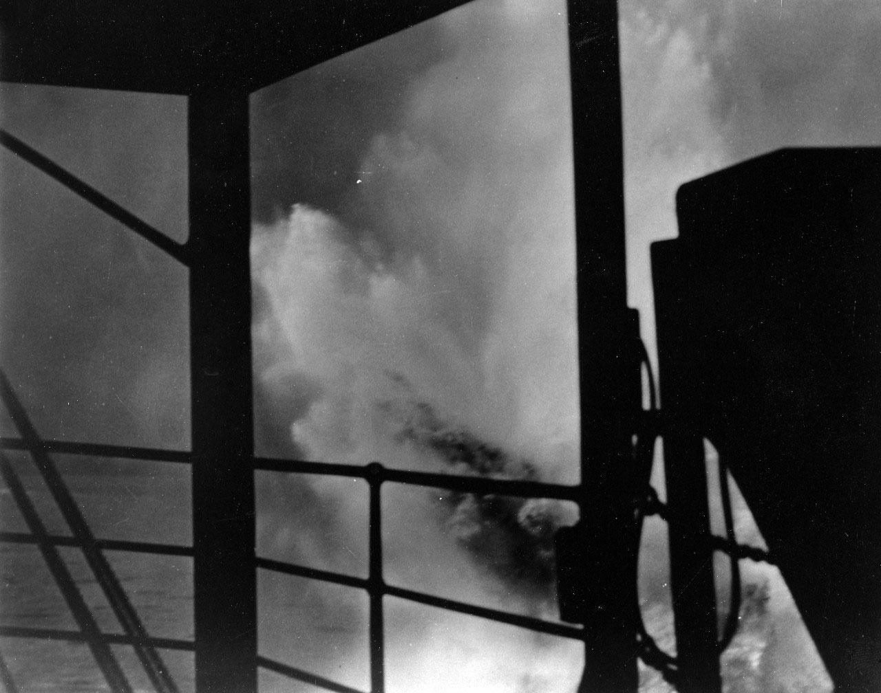 Photo of USS Utah under attack