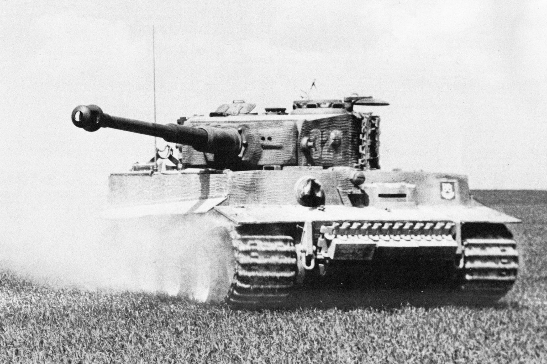 Photo of Advancing German Tiger Tank