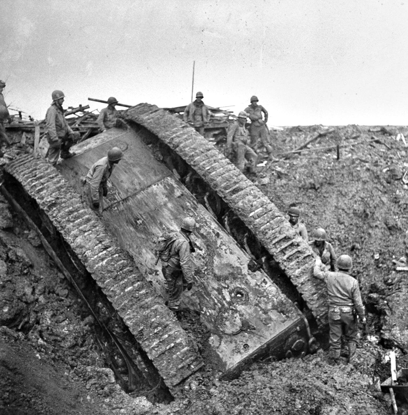 Photo of Americans Conquer German Tiger