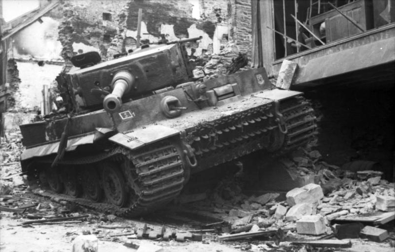 Photo of Wrecked German Tiger Tank
