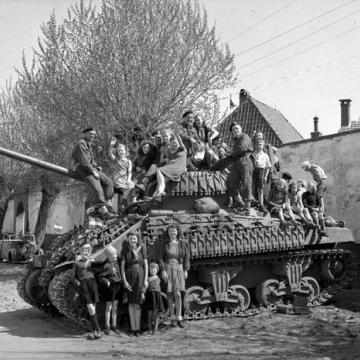Aboard a Sherman Firefly Tank