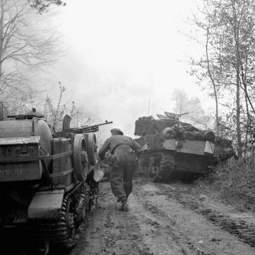 Advancing Towards Hatten, Germany