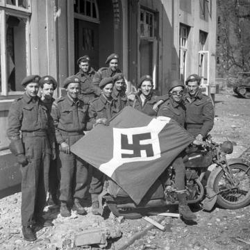 Captured Nazi Flag