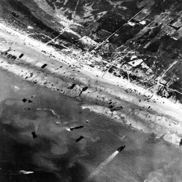 D-Day arial view