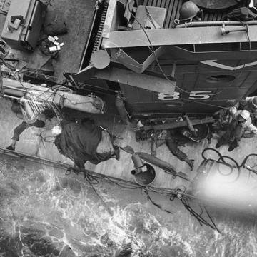 Sinking Ship off Omaha Beach