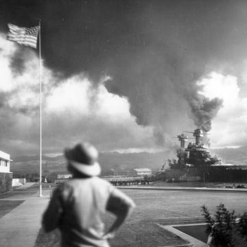 USS California hit by torpedoes