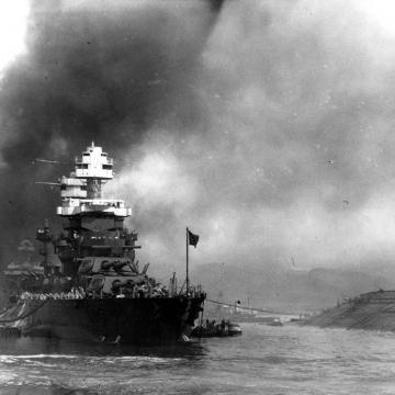 USS Oklahoma capsized