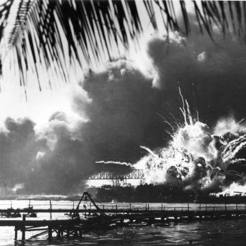 USS Shaw's magazine explodes