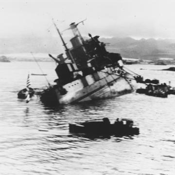 USS Utah capsizing