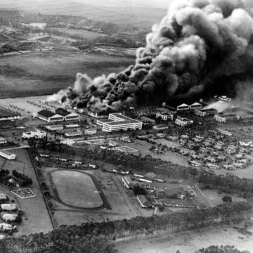 Wheeler Army Air Field burning