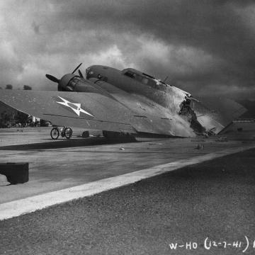 Wrecked B-17C