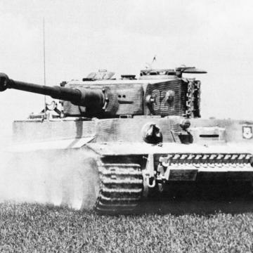 Advancing German Tiger Tank