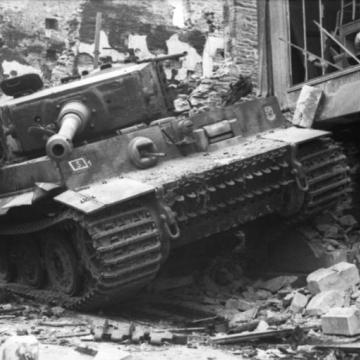 Wrecked German Tiger Tank